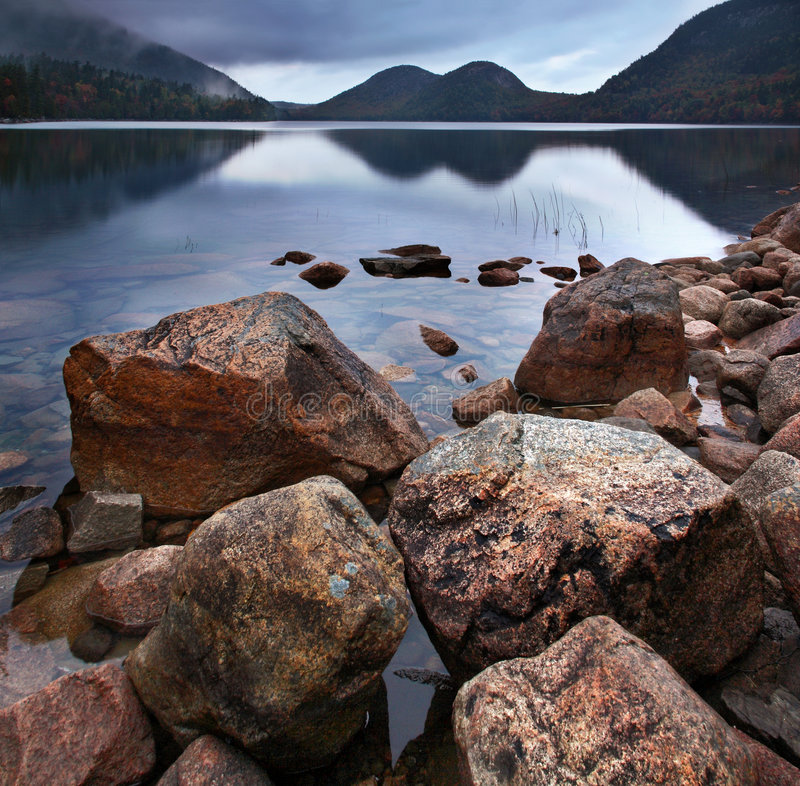 Download Jordan Pond, Acadia National Park Stock Photo - Image of pond, cloudy: 7206994