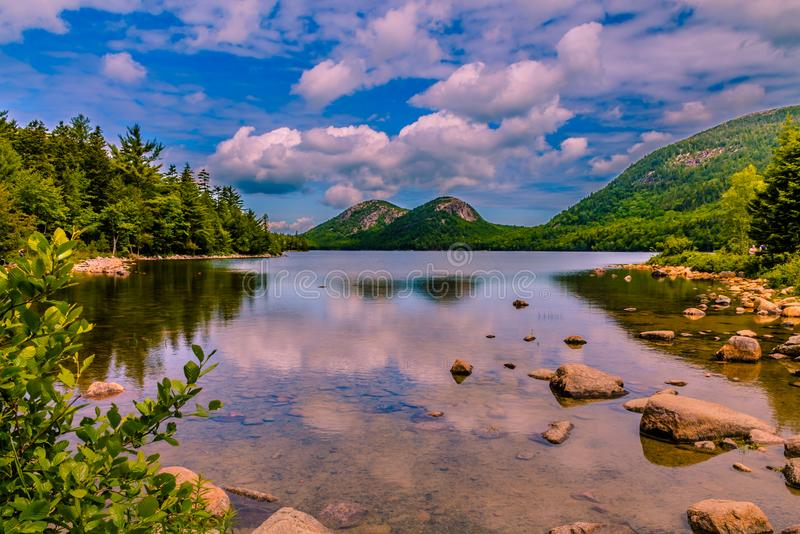 Jordan Pond - Acadia National Park in Maine stock images