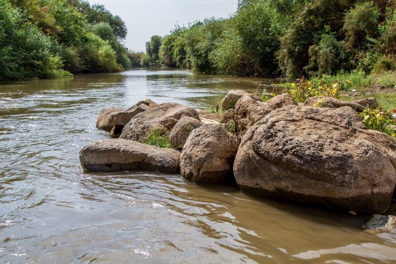 Jordan River stockbilder
