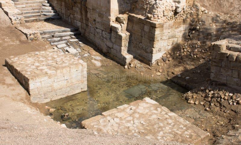 Jordan River Baptismal Site immagini stock libere da diritti