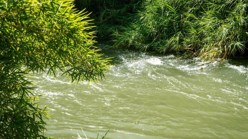 Jordan River, Israël image libre de droits
