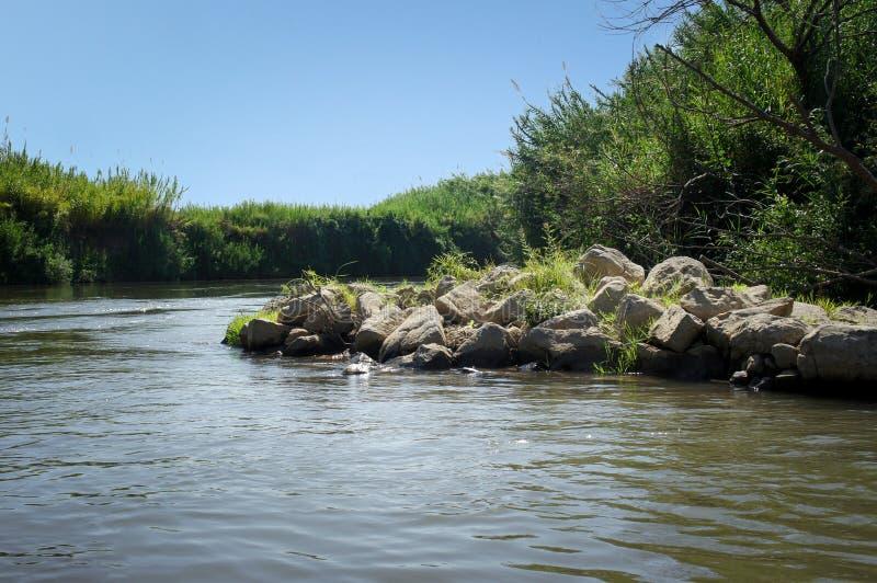 Jordan River, Israël images libres de droits
