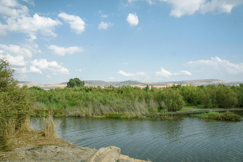 Jordan River, Israël photographie stock libre de droits