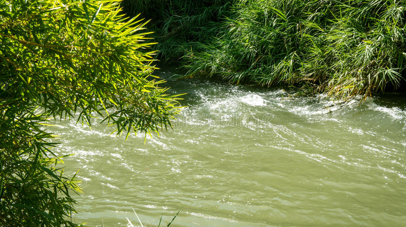 The Jordan River, Israel royalty free stock image