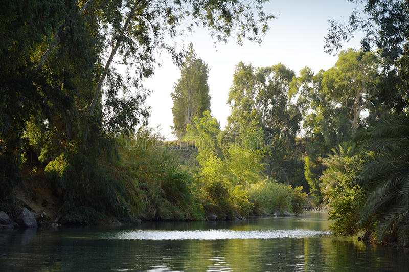 Jordan River l'israel photo stock