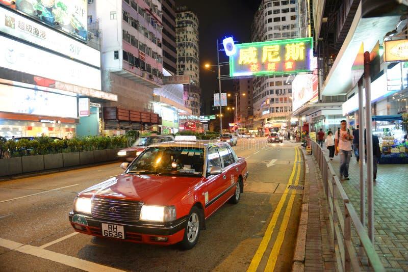 Jordan Road in Kowloon, Hong Kong royalty-vrije stock afbeelding
