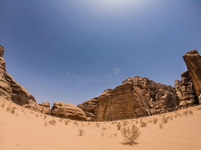 Jordan rumu wadi desert obrazy stock