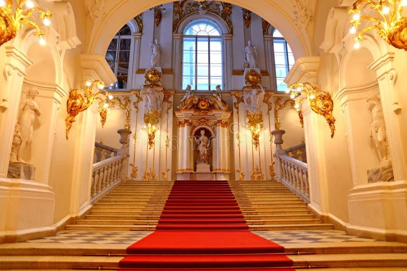 Jordan Staircase do palácio do inverno fotos de stock royalty free
