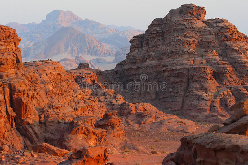 Jordan: Sunset in Wadi rum royalty free stock images