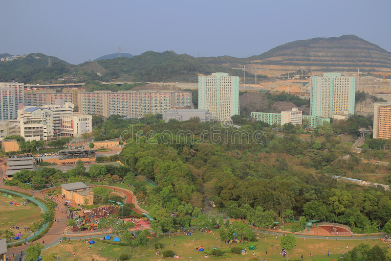 Jordan Valley Park. Shun Lee district, kwun tong hk royalty free stock photography