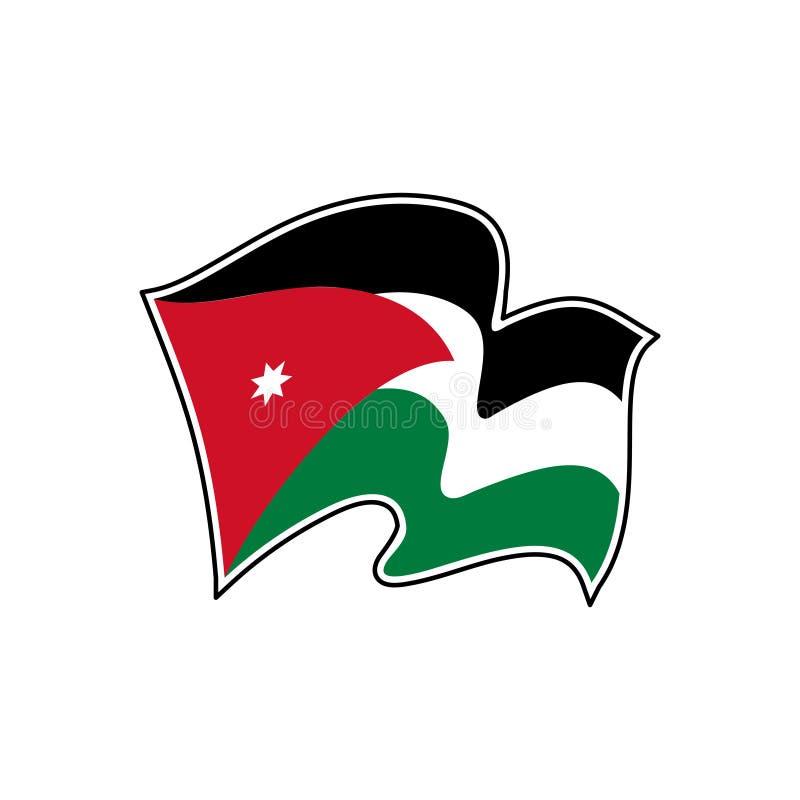 Jordan vector flag. National symbol of Jordan. Amman. Flag of Jordan. Jordan vector flag. National symbol of Jordan vector illustration
