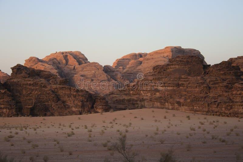 Jordan Wadi Rum landscapes, Desert Tourist Location. Wadi Rum Jordan, Camping, Camels, Site Seeing, Desert, 4x4 Driving, tourist location stock photography
