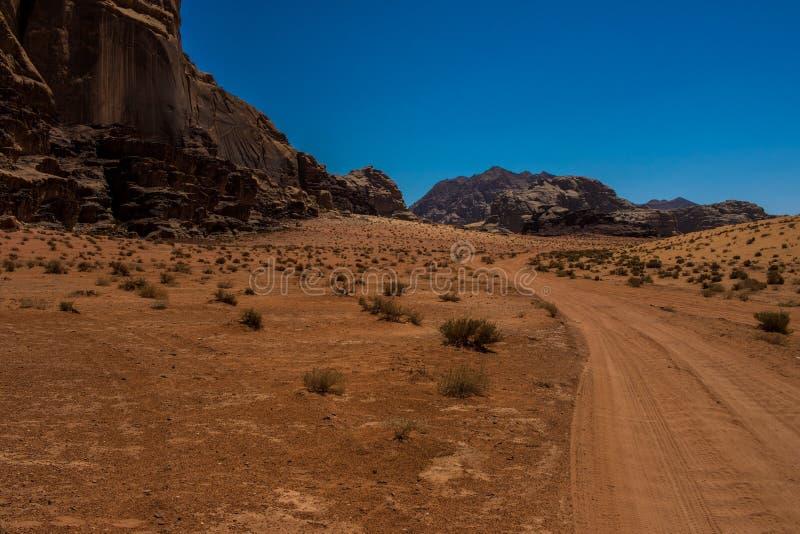 Jordan Wadi Rum landscapes, Desert Tourist Location. Wadi Rum Jordan, Camping, Camels, Site Seeing, Desert, 4x4 Driving, tourist location stock photos