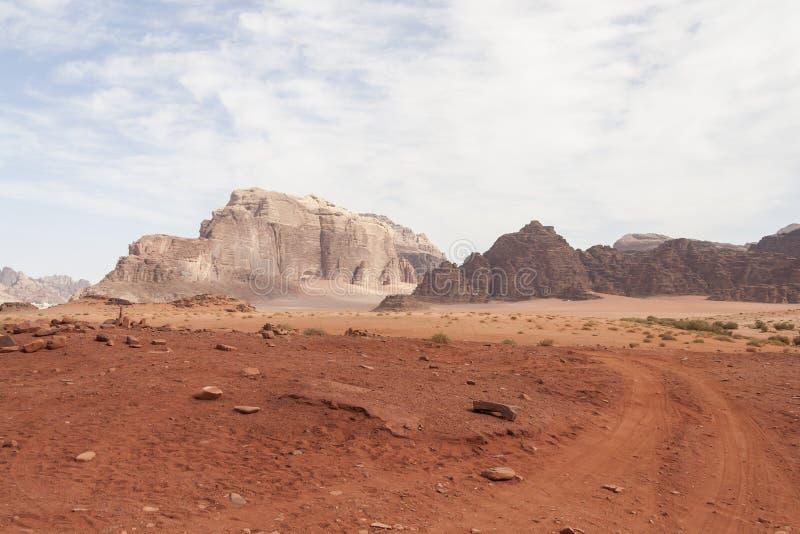 Jordan Wadi Rum Road Desert photographie stock
