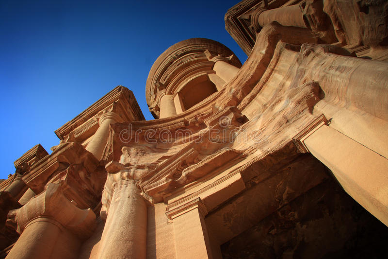 Jordanië: Graf in Petra royalty-vrije stock foto's