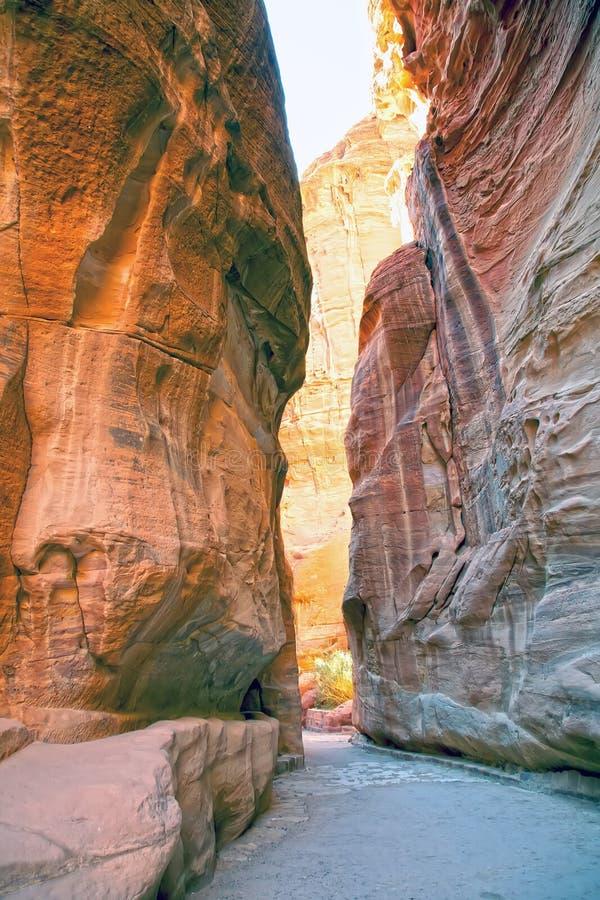 jordanië petra royalty-vrije stock fotografie