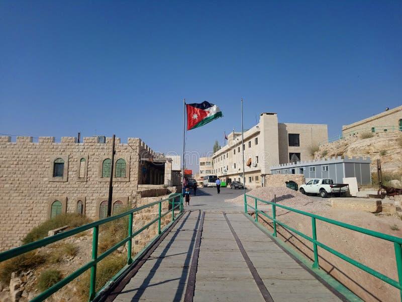 Jordanië, reis aan Karak-Kasteel stock foto