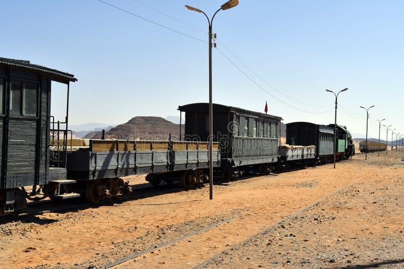 Jordani?, Wadi Rum Station royalty-vrije stock foto