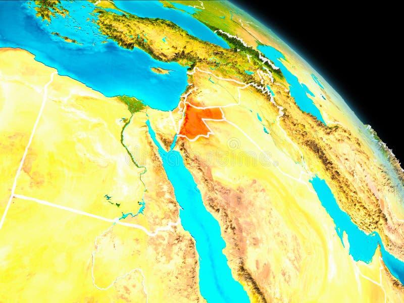 Jordania en la tierra stock de ilustración