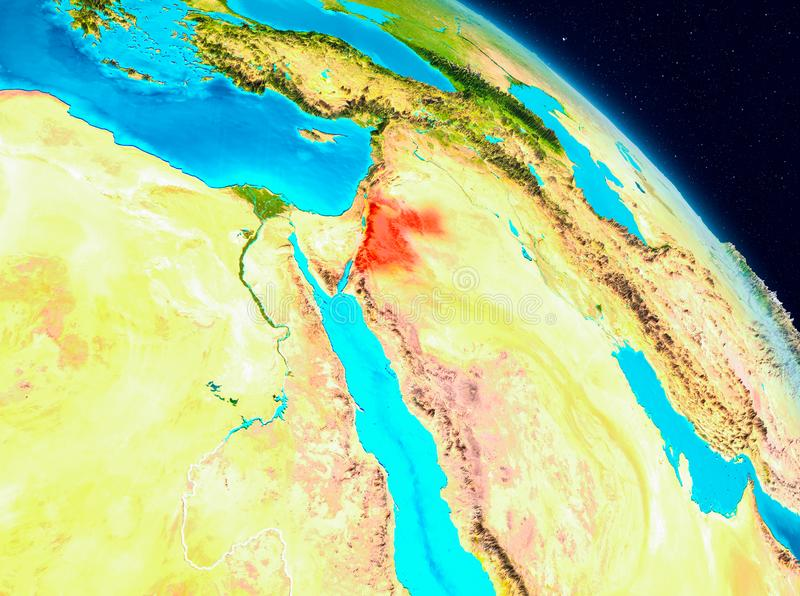 Jordania en la tierra libre illustration