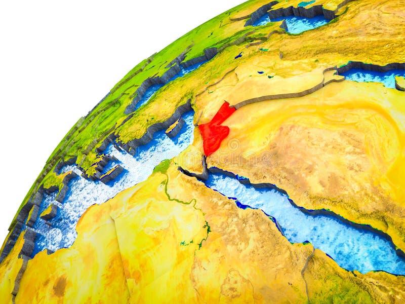 Jordania en la tierra 3D ilustración del vector