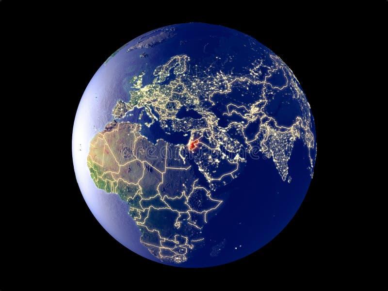 Jordania en la tierra del espacio libre illustration