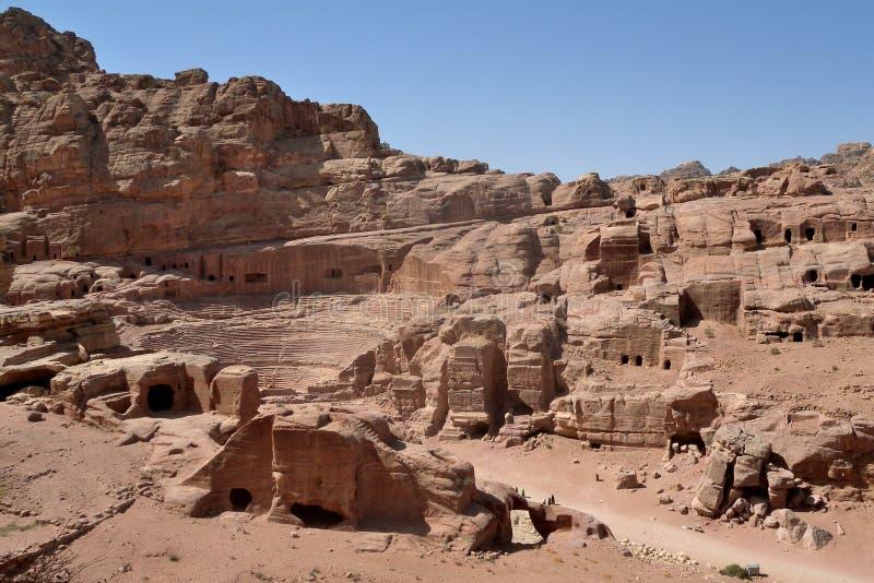 Jordania - Petra imagenes de archivo