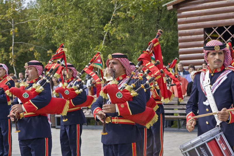 Jordanian military orchestra royalty free stock image