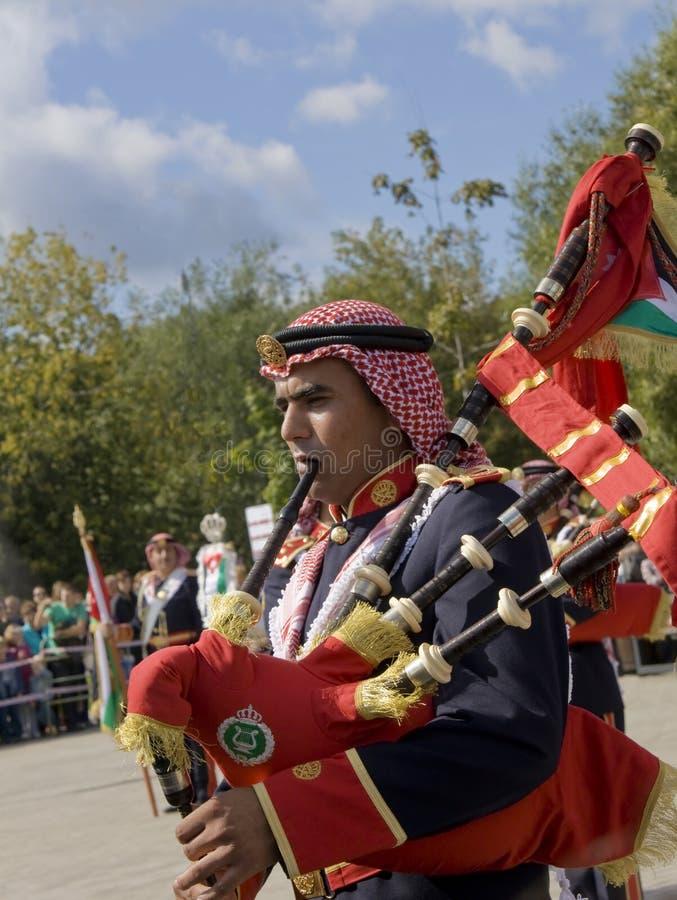 Jordanian military orchestra, festival royalty free stock photos