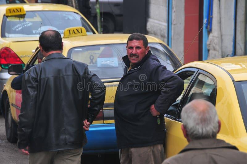Jordanian Taxi Stand stock photo