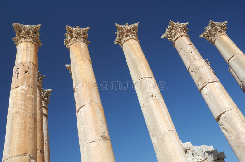 Jordanien - Jerash stockfoto