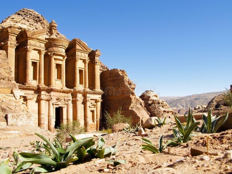 Jordanien, PETRA stockbilder