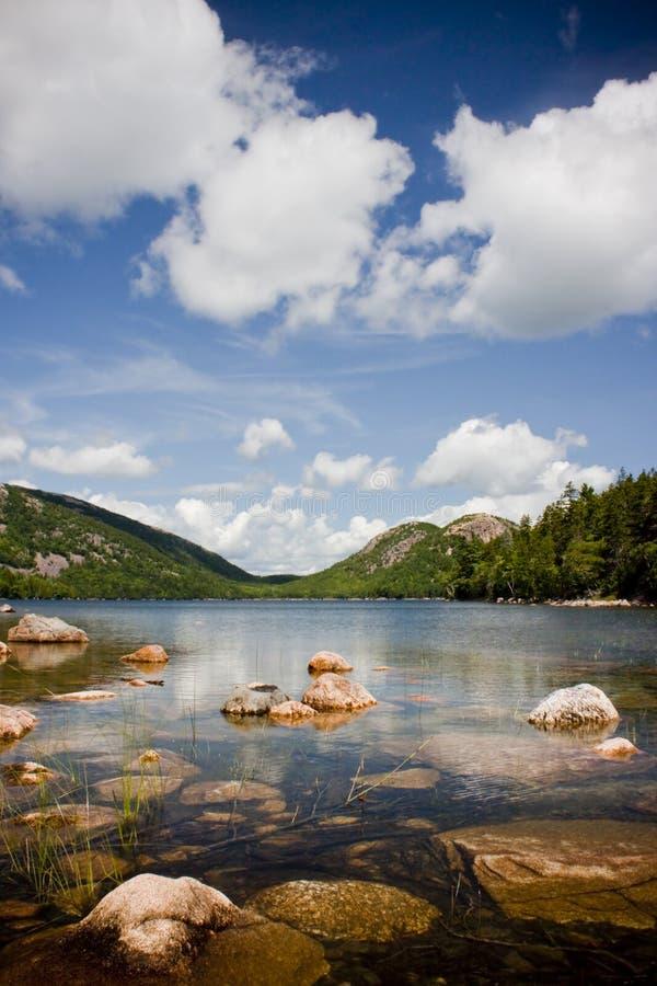 Jordanien-Teich, Acadia-Nationalpark lizenzfreies stockfoto