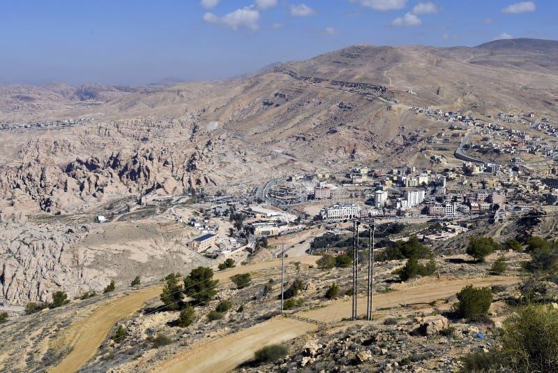 Jordanien Wadi Musa royaltyfria foton