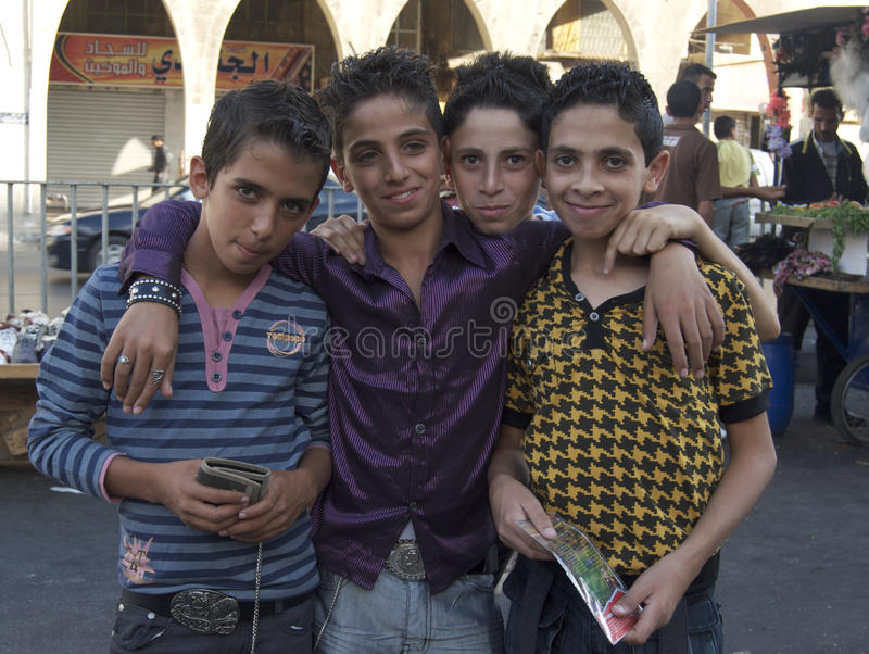 Jordanische Jungen stockbilder