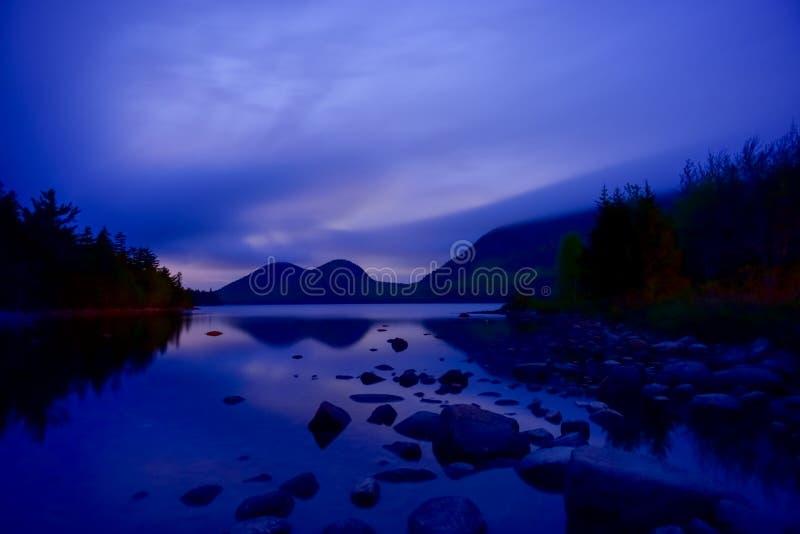 Jordanowski staw w Acadia parku narodowym zdjęcia stock