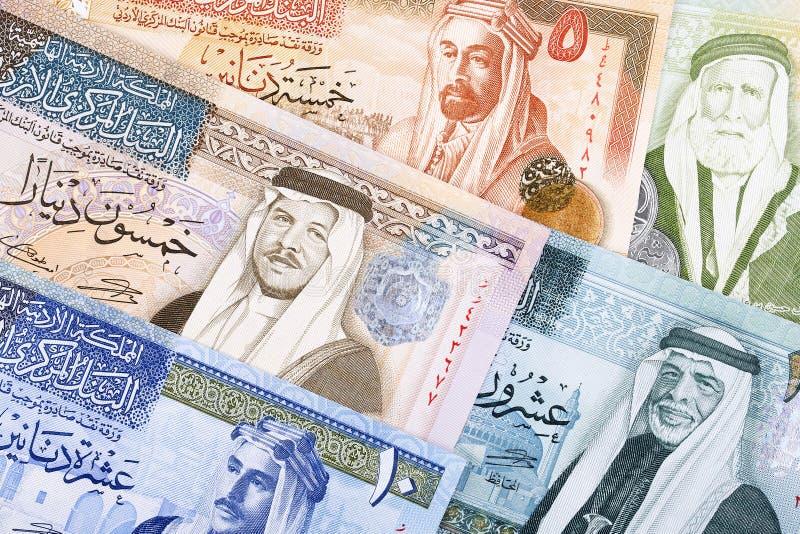 Jordansk dinar, en bakgrund fotografering för bildbyråer