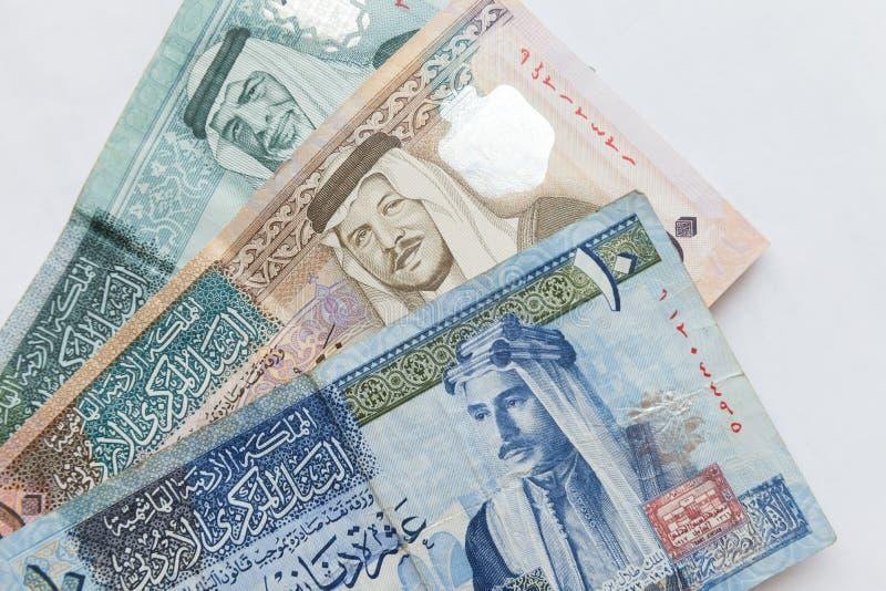 Jordanska dinar, sedlar royaltyfria bilder