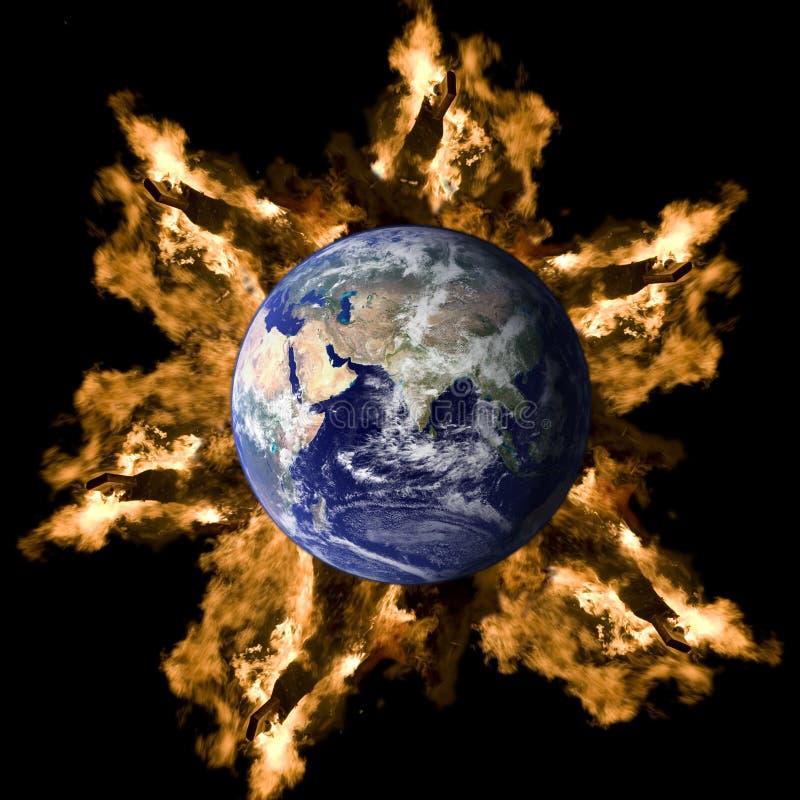 jordbrand royaltyfri foto