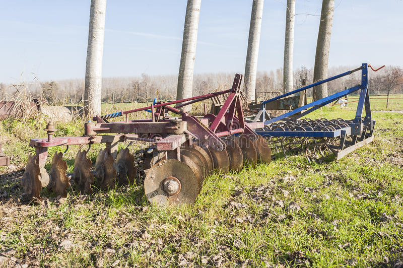 Jordbruks- hjälpmedel, harv arkivbild
