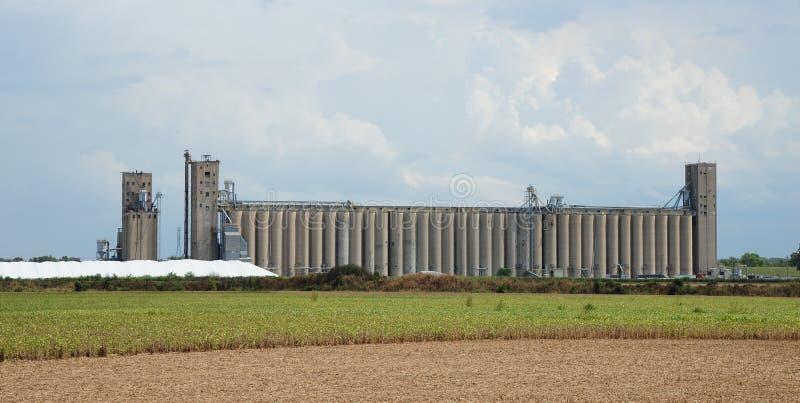 Jordbruks- industriell bearbetningsanläggning royaltyfri fotografi