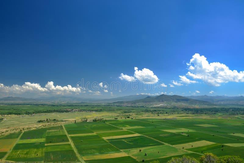 Jordbruks- land och utvecklingsplan royaltyfri fotografi