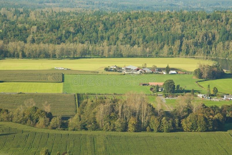 jordbruks- lantgårdland royaltyfri fotografi