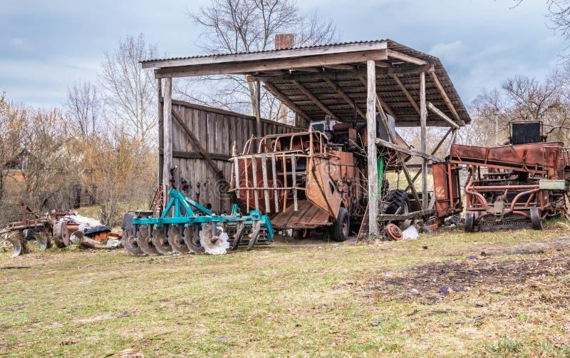 Jordbruks- maskineri för industriell odling fotografering för bildbyråer
