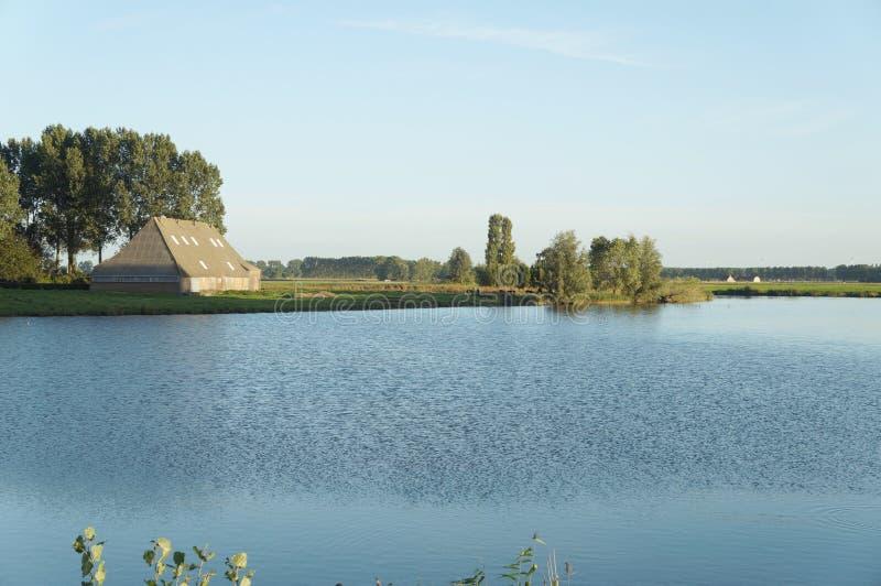 Jordbruksmarksikt i Nederländerna royaltyfria foton