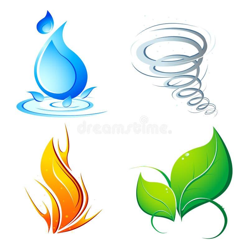 jordelement fyra stock illustrationer