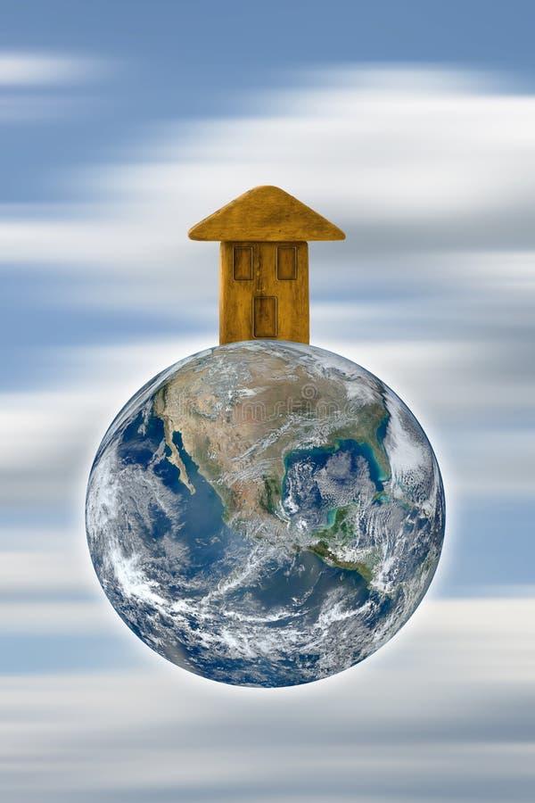 Jorden är vårt hem - begreppsbild royaltyfri illustrationer