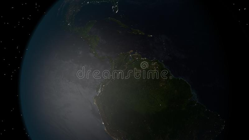 Jorden från utrymme fotografering för bildbyråer