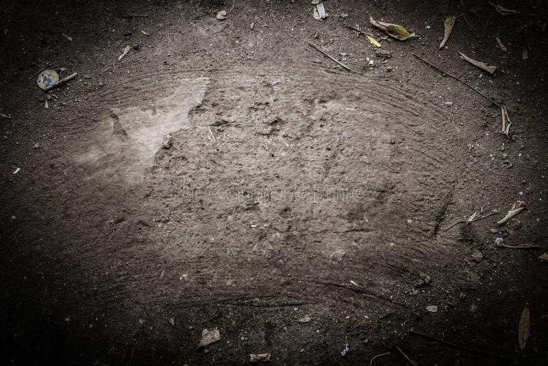 Jorden sopas med en kvast för Kopia-utrymme royaltyfria foton