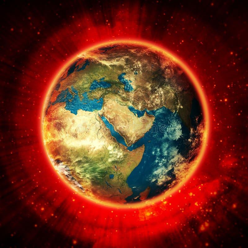 Jordenergi i avstånd royaltyfri illustrationer
